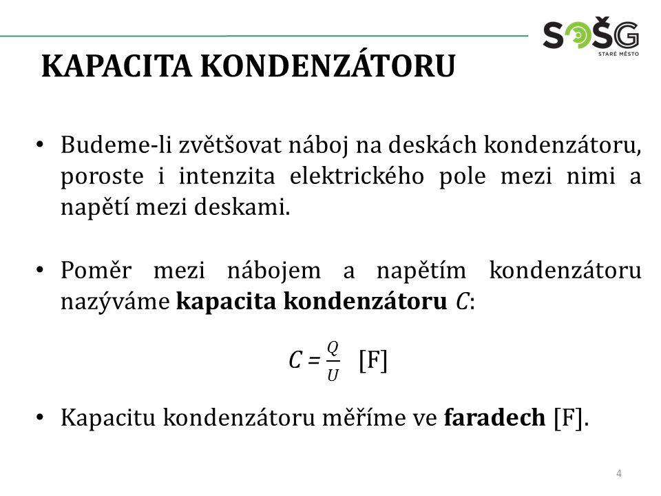 KAPACITA KONDENZÁTORU