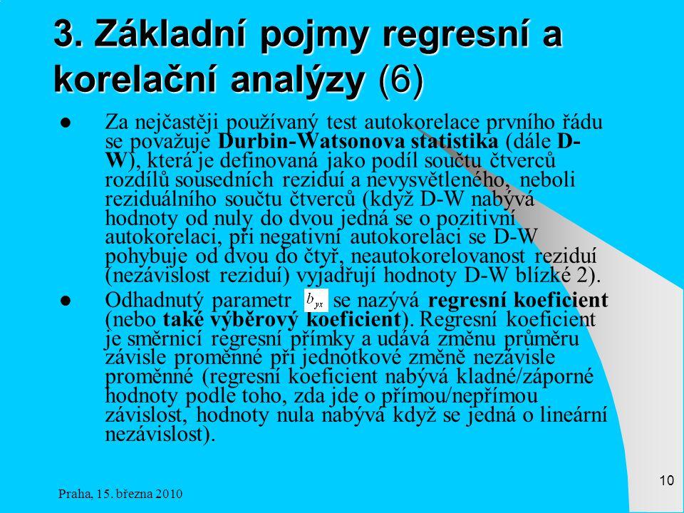 3. Základní pojmy regresní a korelační analýzy (6)
