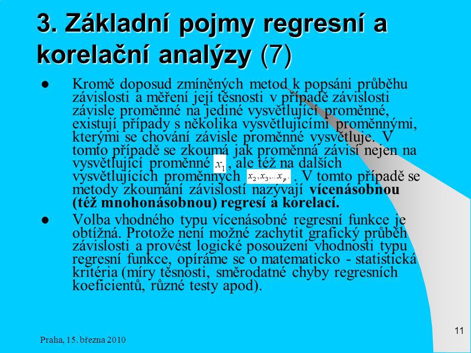 3. Základní pojmy regresní a korelační analýzy (7)
