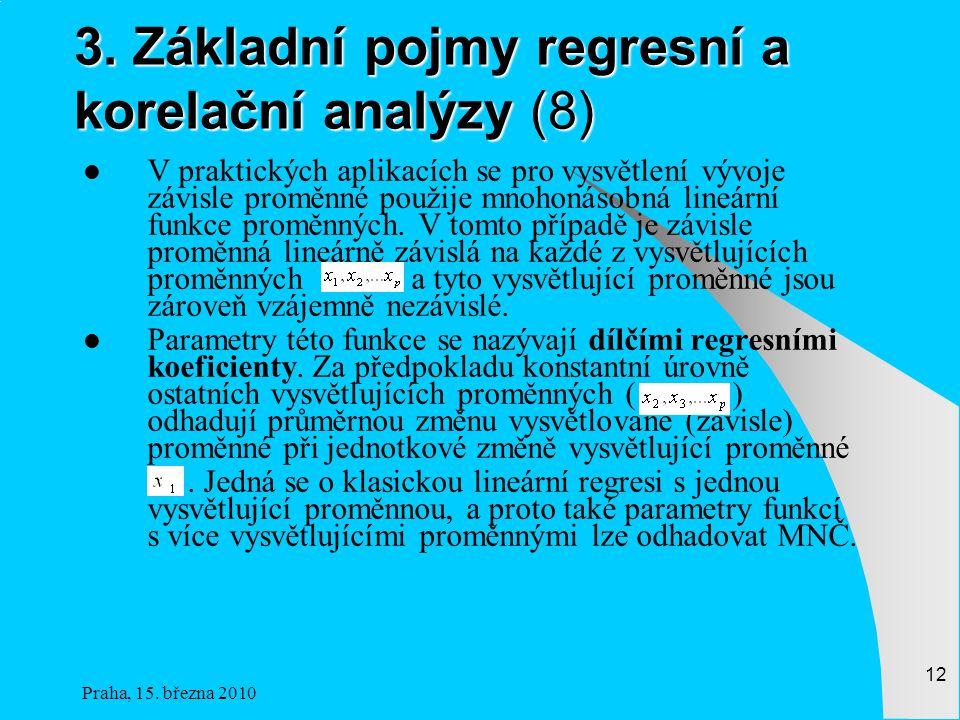 3. Základní pojmy regresní a korelační analýzy (8)