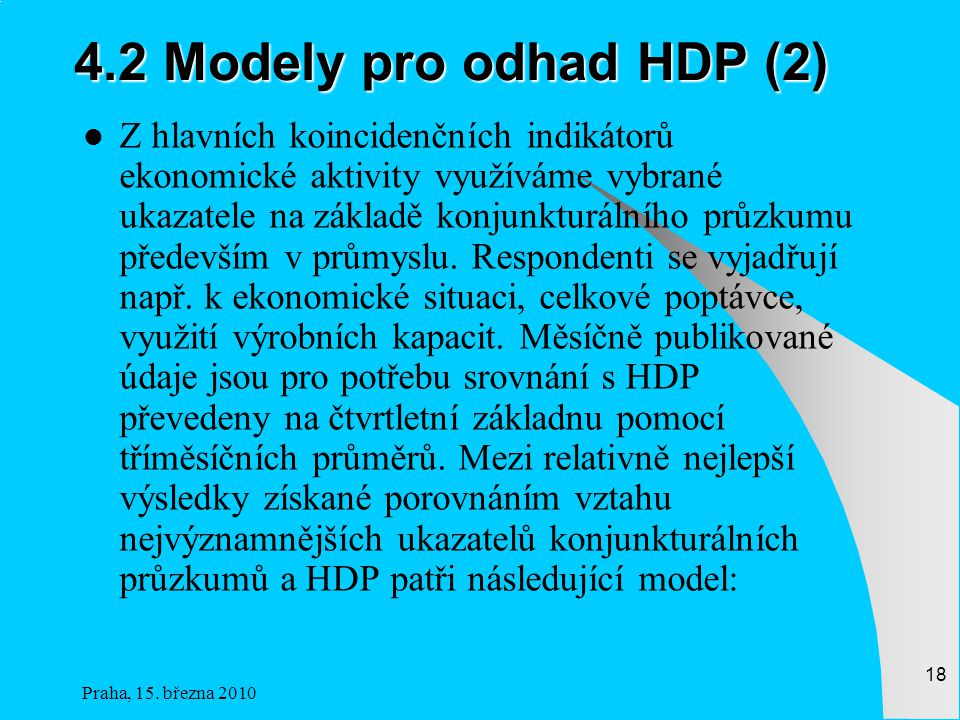 4.2 Modely pro odhad HDP (2)