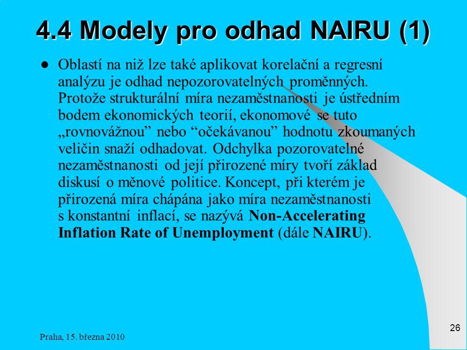 4.4 Modely pro odhad NAIRU (1)