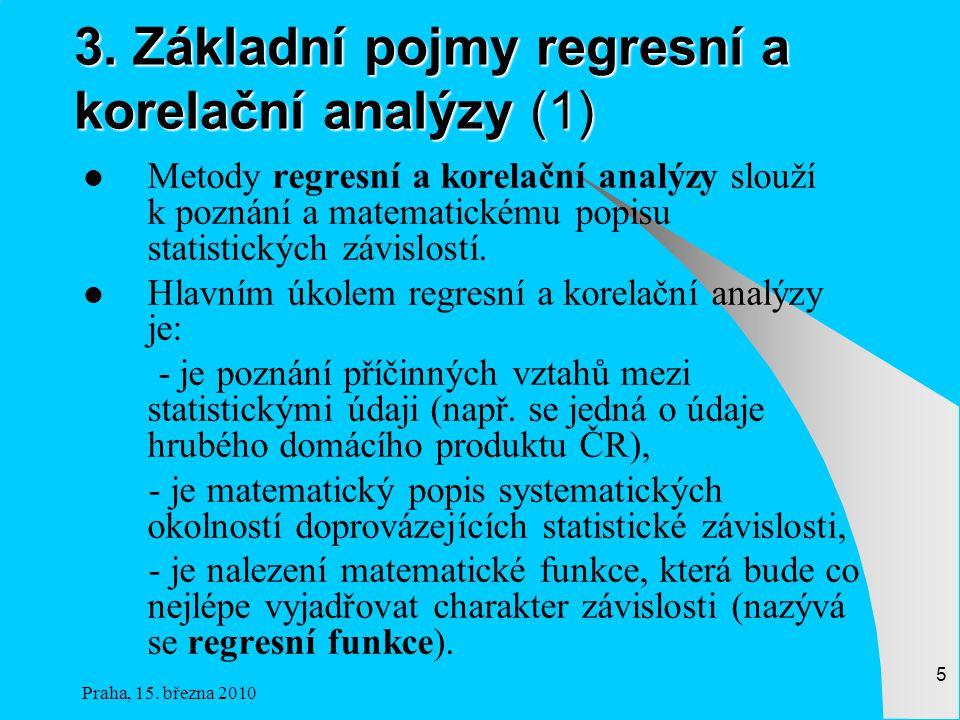 3. Základní pojmy regresní a korelační analýzy (1)