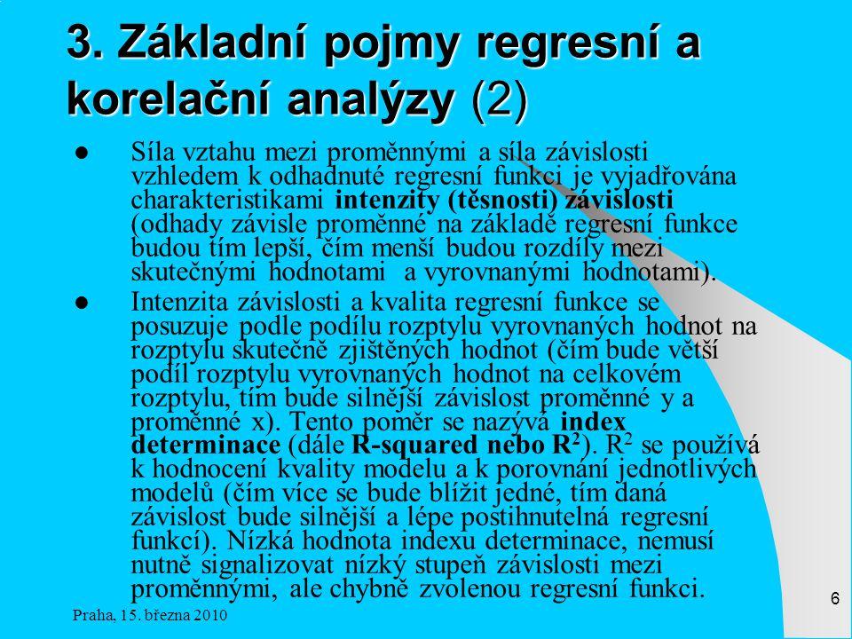 3. Základní pojmy regresní a korelační analýzy (2)