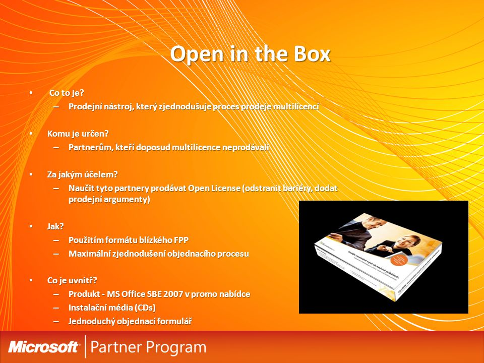 Open in the Box Co to je Prodejní nástroj, který zjednodušuje proces prodeje multilicencí. Komu je určen