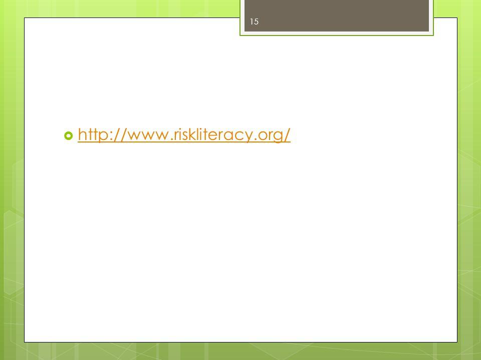 http://www.riskliteracy.org/