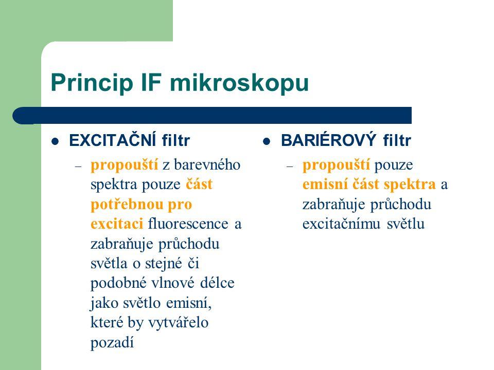 Princip IF mikroskopu EXCITAČNÍ filtr