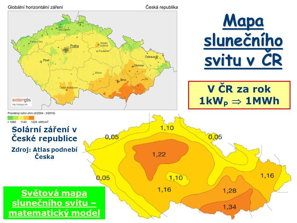 Mapa slunečního svitu v ČR