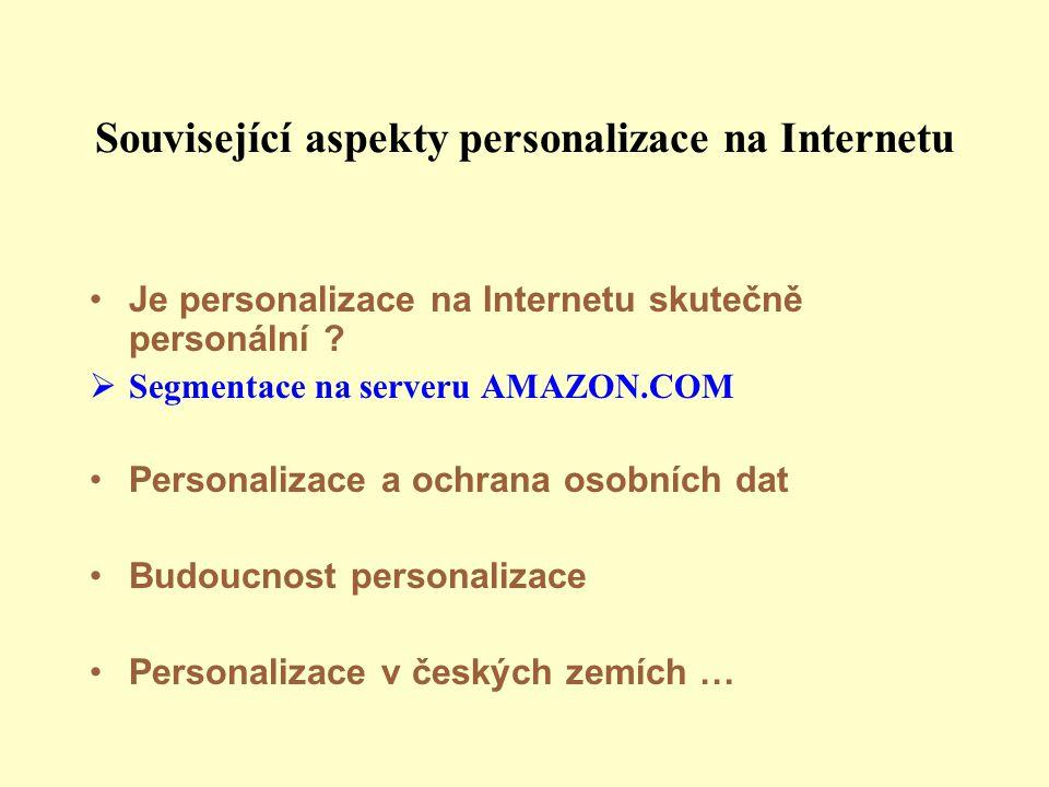 Související aspekty personalizace na Internetu