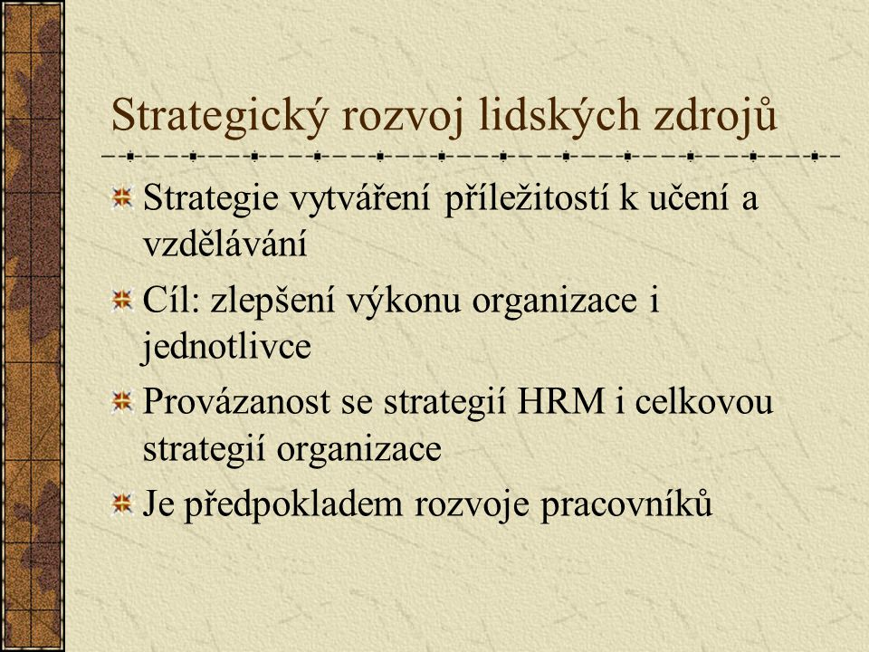 Strategický rozvoj lidských zdrojů