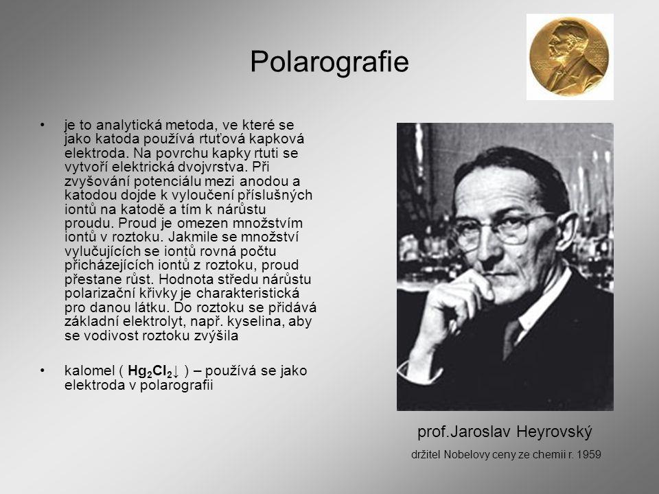 Polarografie prof.Jaroslav Heyrovský