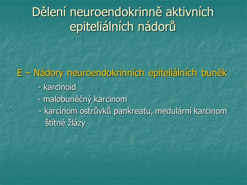 Dělení neuroendokrinně aktivních epiteliálních nádorů