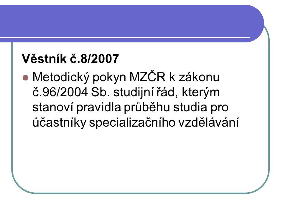 Věstník č.8/2007