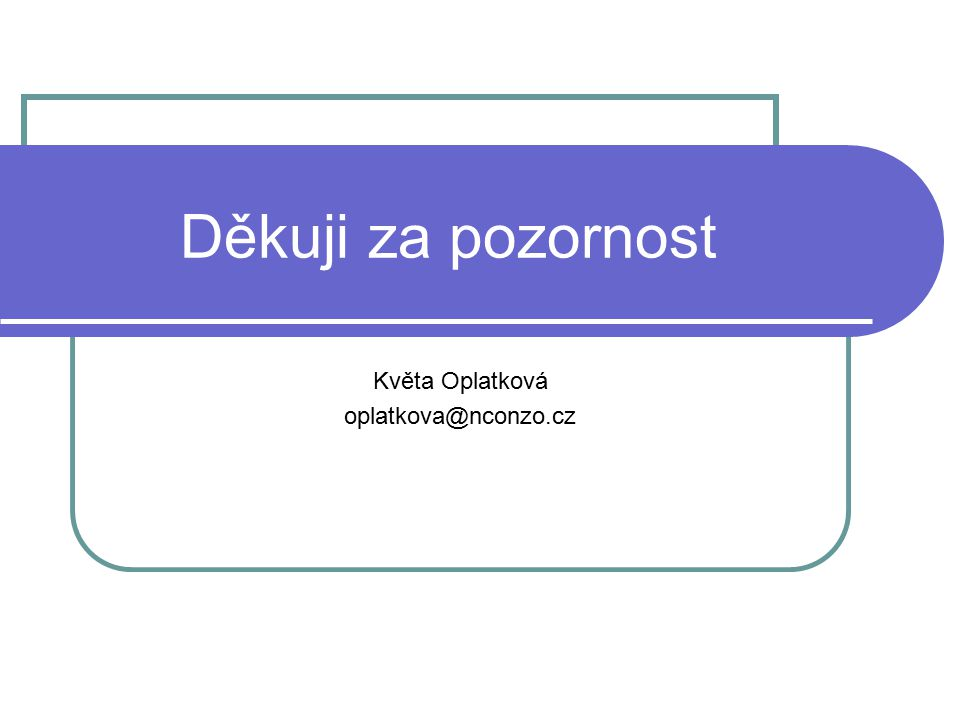 Květa Oplatková oplatkova@nconzo.cz