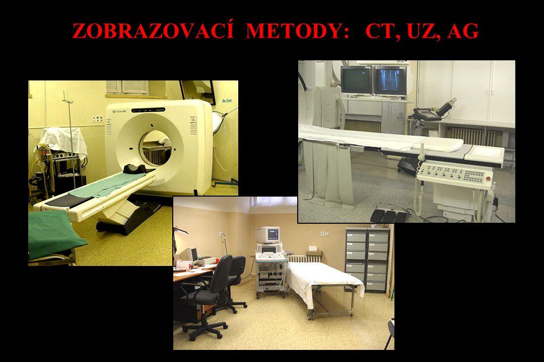 ZOBRAZOVACÍ METODY: CT, UZ, AG
