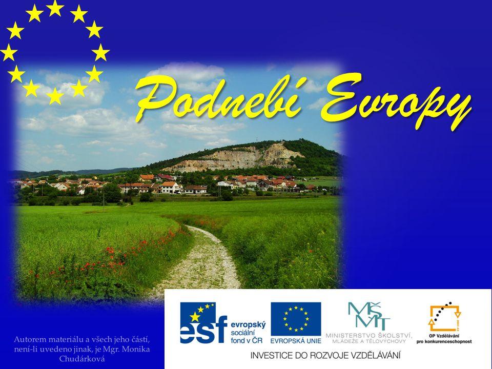 Podnebí Evropy Autorem materiálu a všech jeho částí, není-li uvedeno jinak, je Mgr.