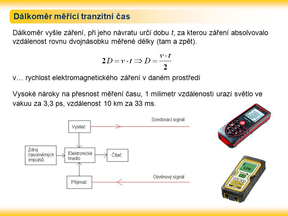 Dálkoměr měřící tranzitní čas
