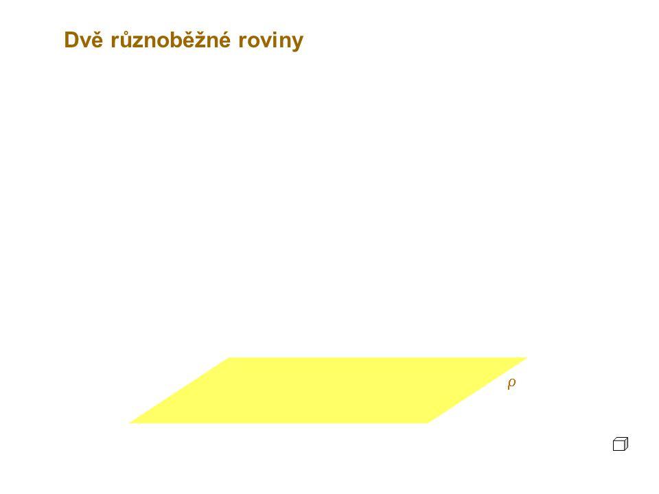 Dvě různoběžné roviny r