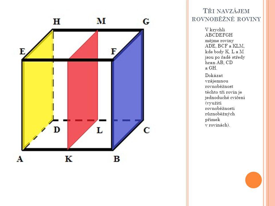 Tři navzájem rovnoběžné roviny