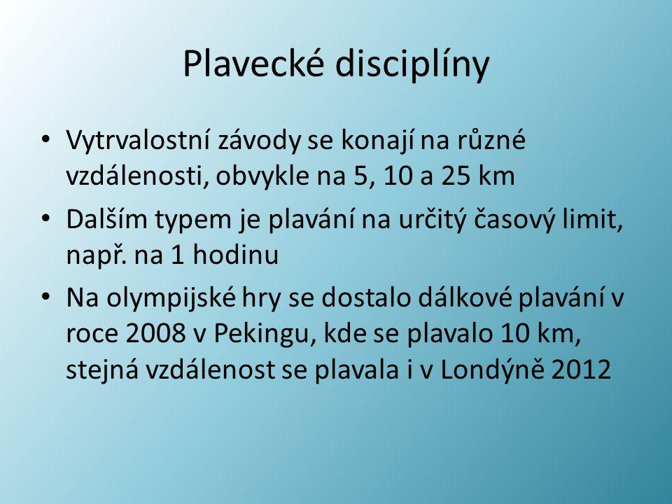 Plavecké disciplíny Vytrvalostní závody se konají na různé vzdálenosti, obvykle na 5, 10 a 25 km.