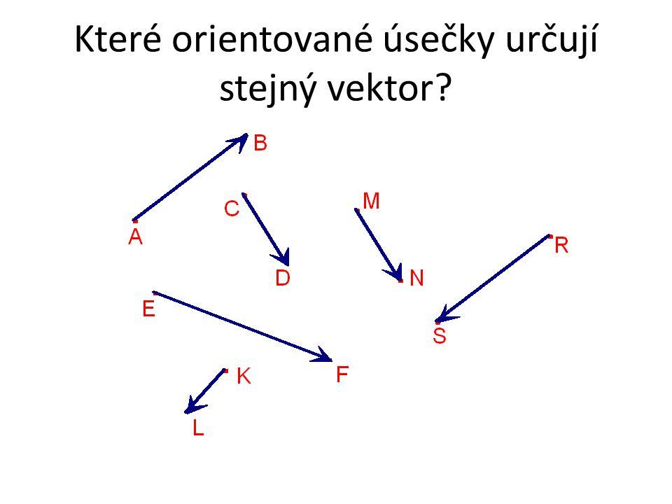 Které orientované úsečky určují stejný vektor