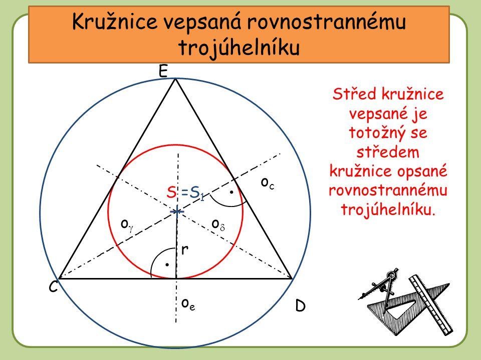Kružnice vepsaná rovnostrannému trojúhelníku
