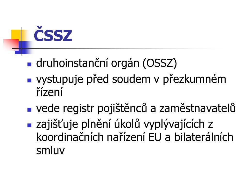 ČSSZ druhoinstanční orgán (OSSZ)