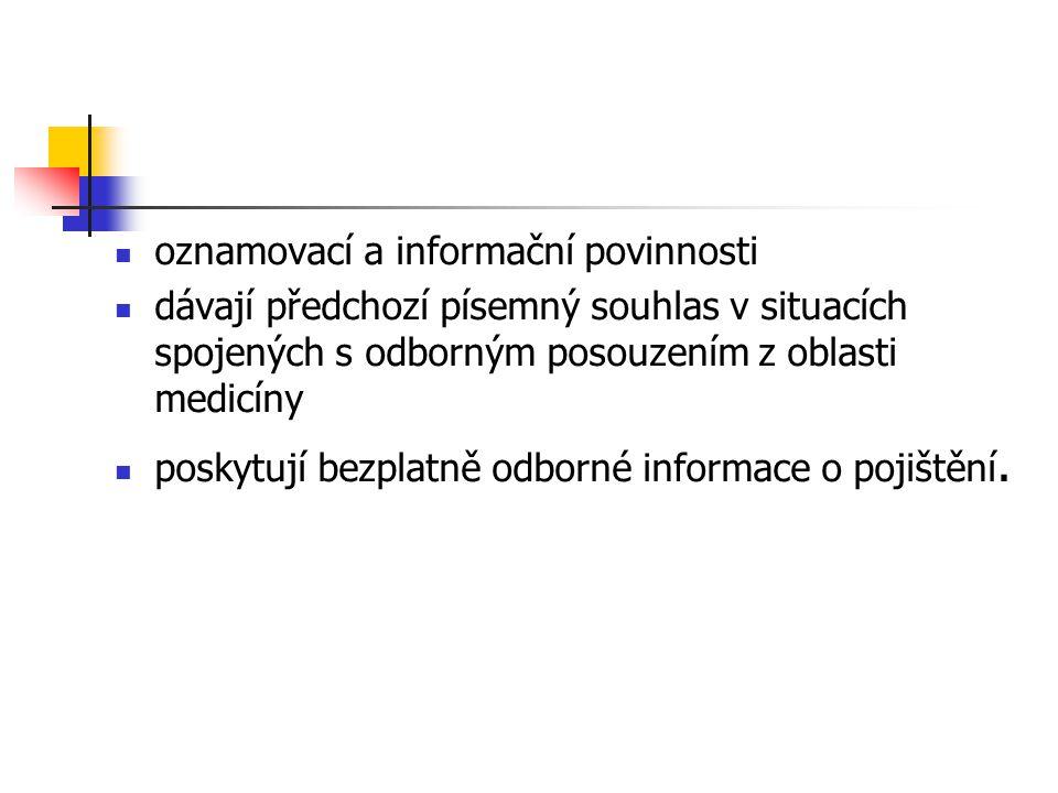 oznamovací a informační povinnosti