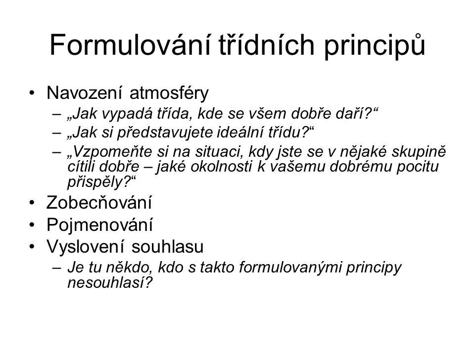 Formulování třídních principů