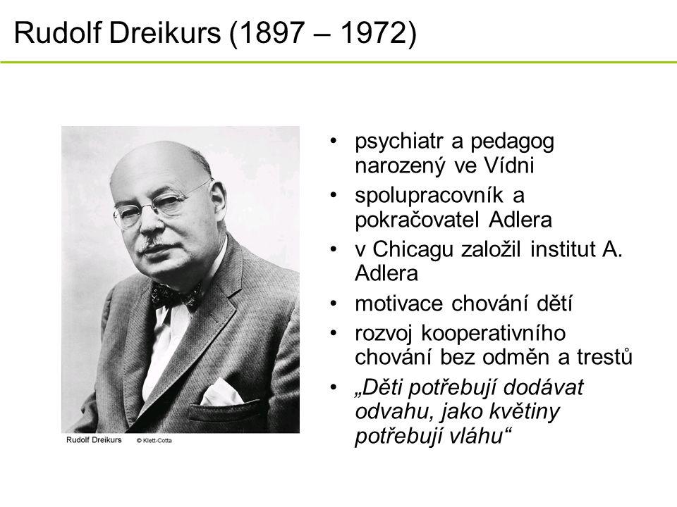 Rudolf Dreikurs (1897 – 1972) psychiatr a pedagog narozený ve Vídni