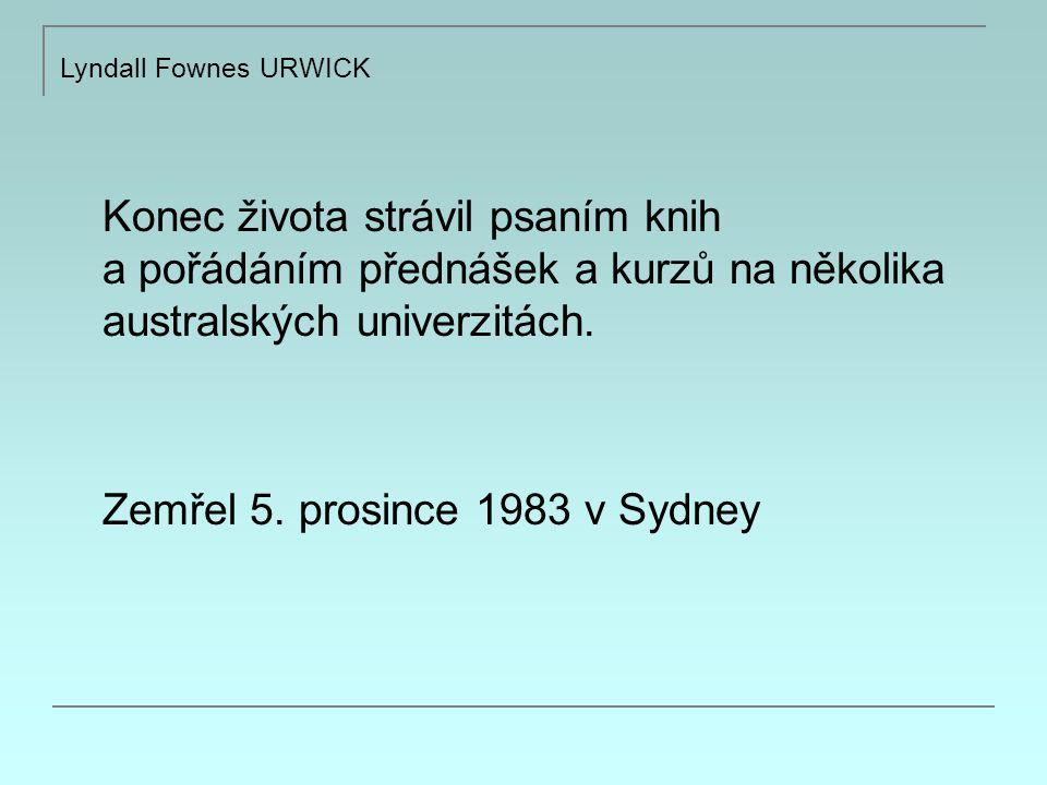 Lyndall Fownes URWICK