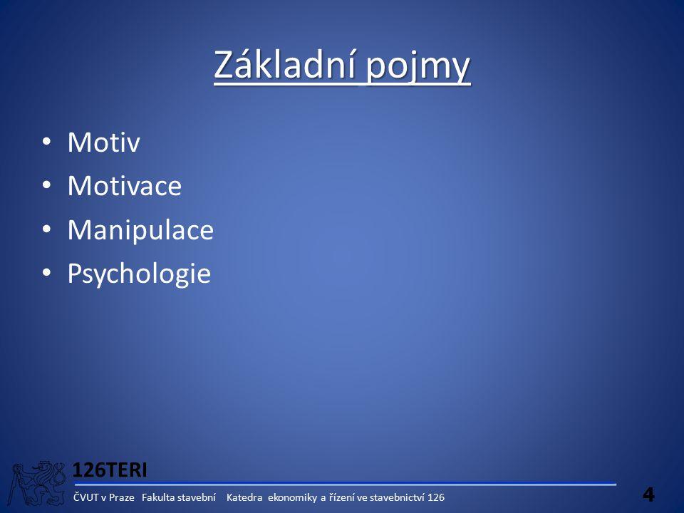 Základní pojmy Motiv Motivace Manipulace Psychologie 126TERI 4
