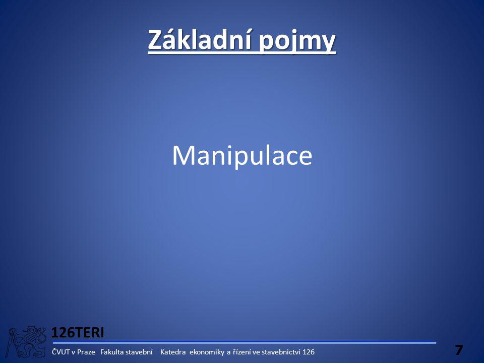Základní pojmy Manipulace 126TERI 7