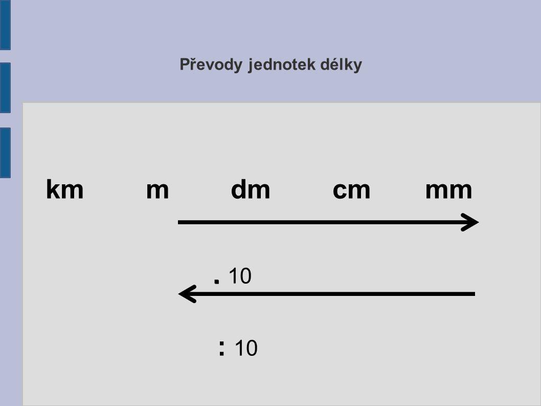 Převody jednotek délky