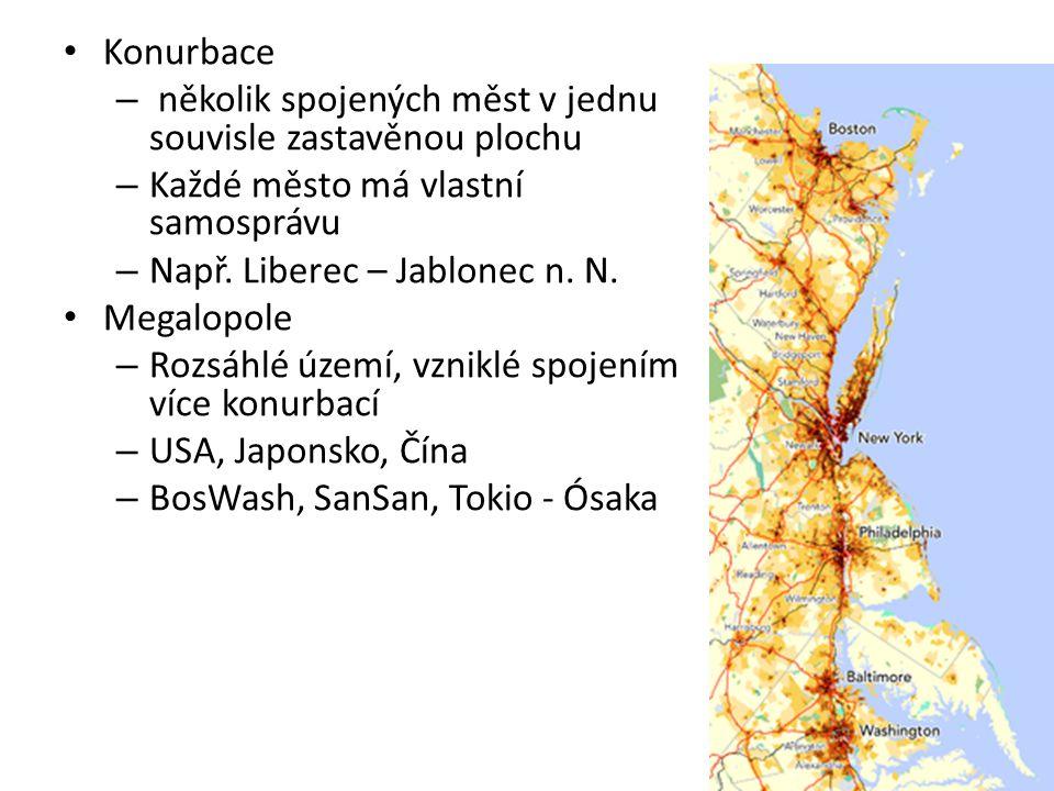 Konurbace několik spojených měst v jednu souvisle zastavěnou plochu. Každé město má vlastní samosprávu.