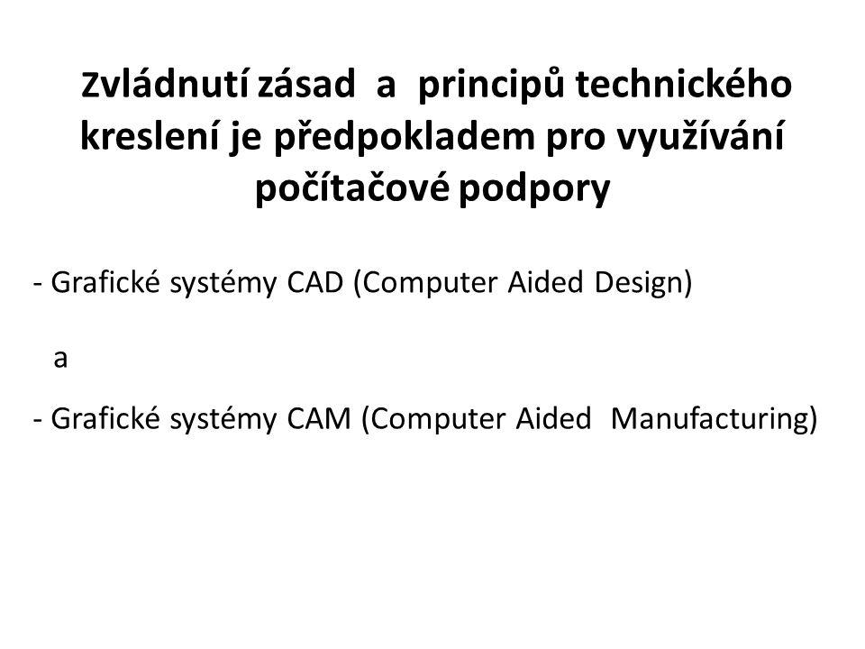 Zvládnutí zásad a principů technického kreslení je předpokladem pro využívání počítačové podpory