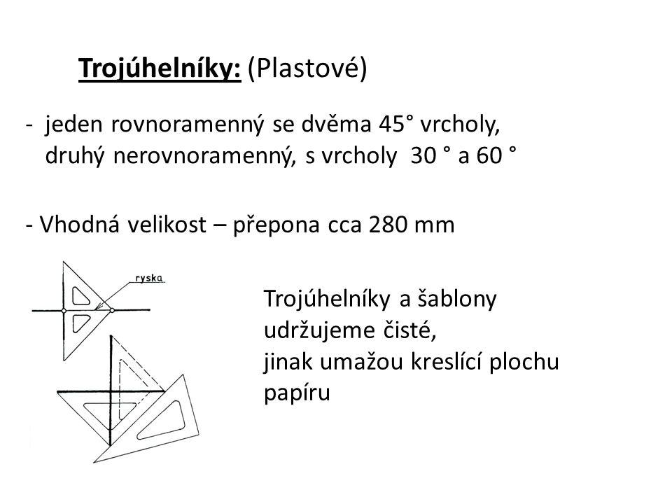 Trojúhelníky: (Plastové)