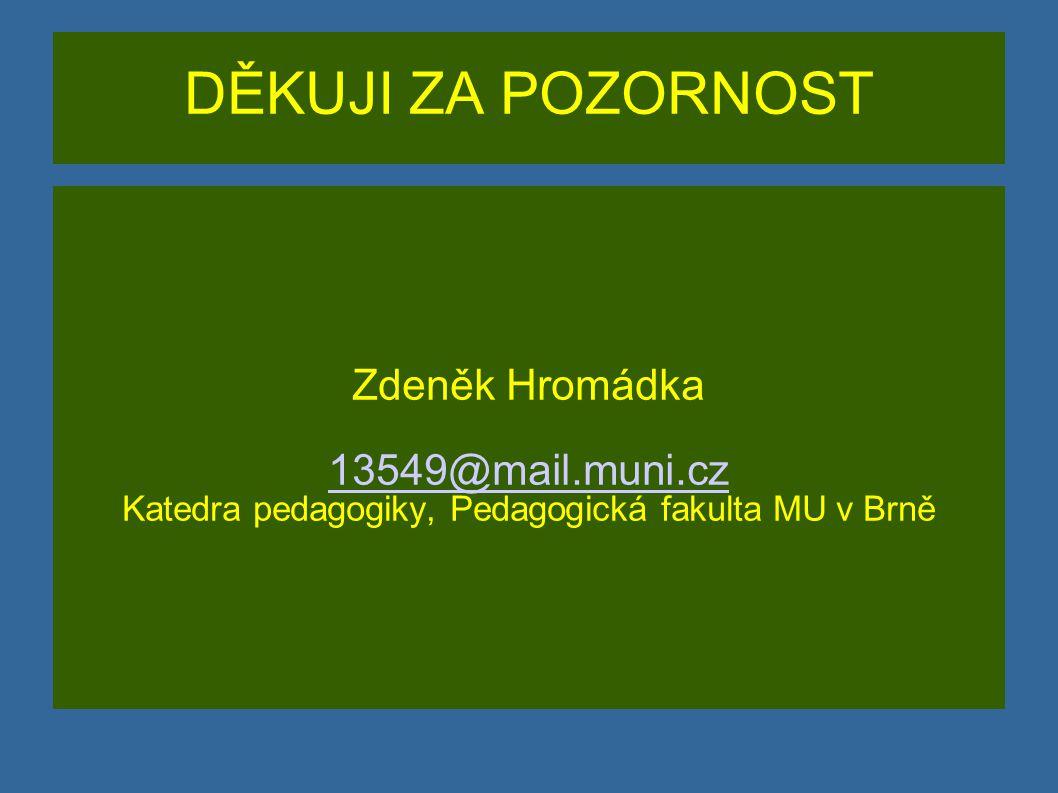 Katedra pedagogiky, Pedagogická fakulta MU v Brně