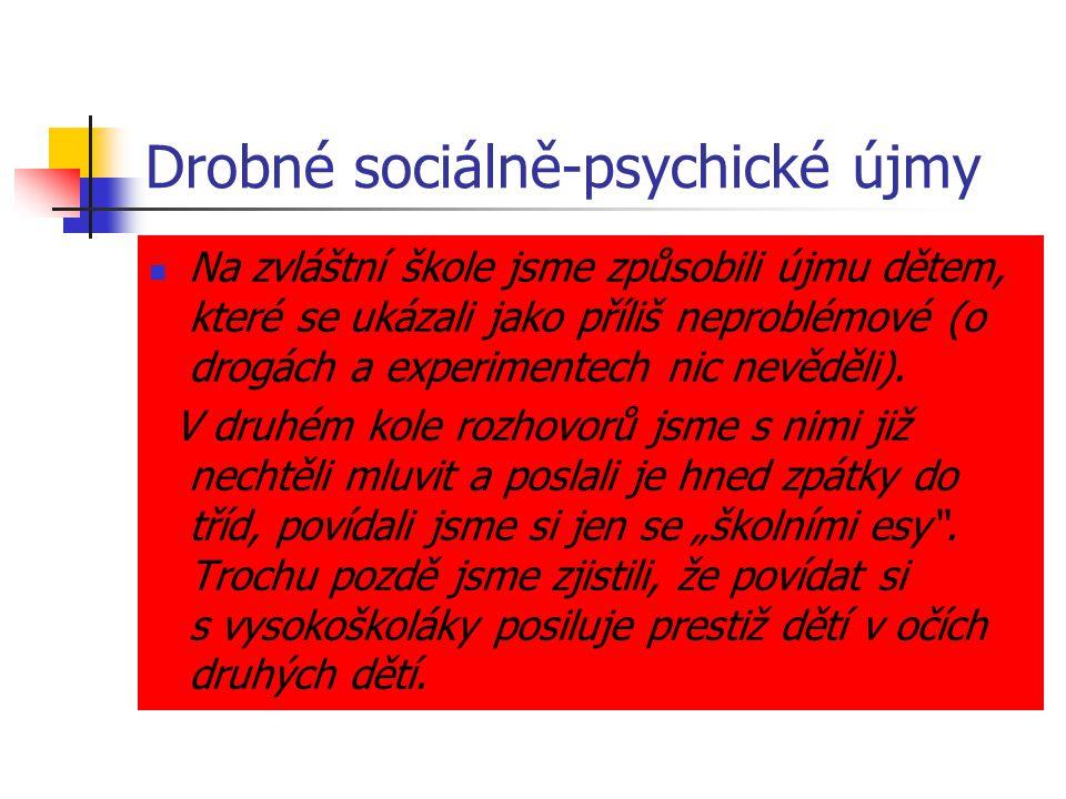 Drobné sociálně-psychické újmy