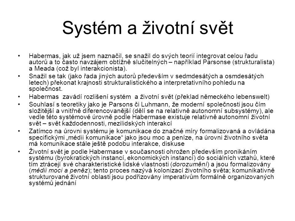 Systém a životní svět