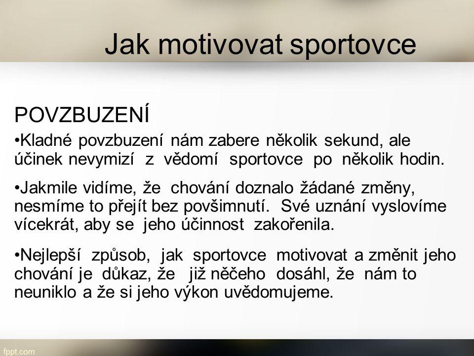 Jak motivovat sportovce