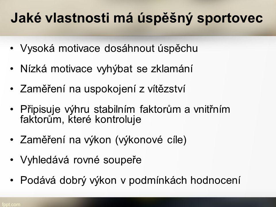 Jaké vlastnosti má úspěšný sportovec