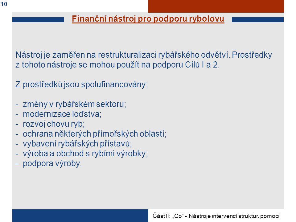 Finanční nástroj pro podporu rybolovu