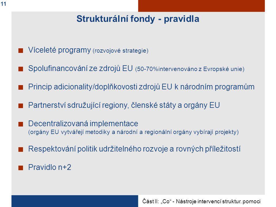 Strukturální fondy - pravidla