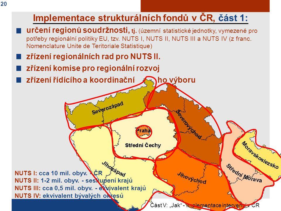Implementace strukturálních fondů v ČR, část 1:
