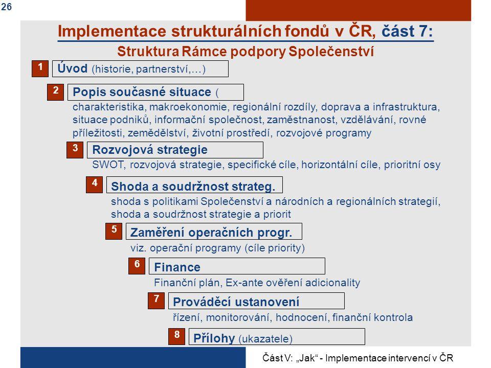 Implementace strukturálních fondů v ČR, část 7: