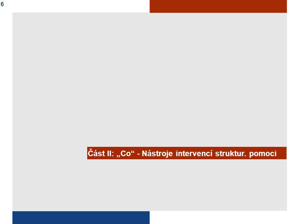 """Část II: """"Co - Nástroje intervencí struktur. pomoci"""