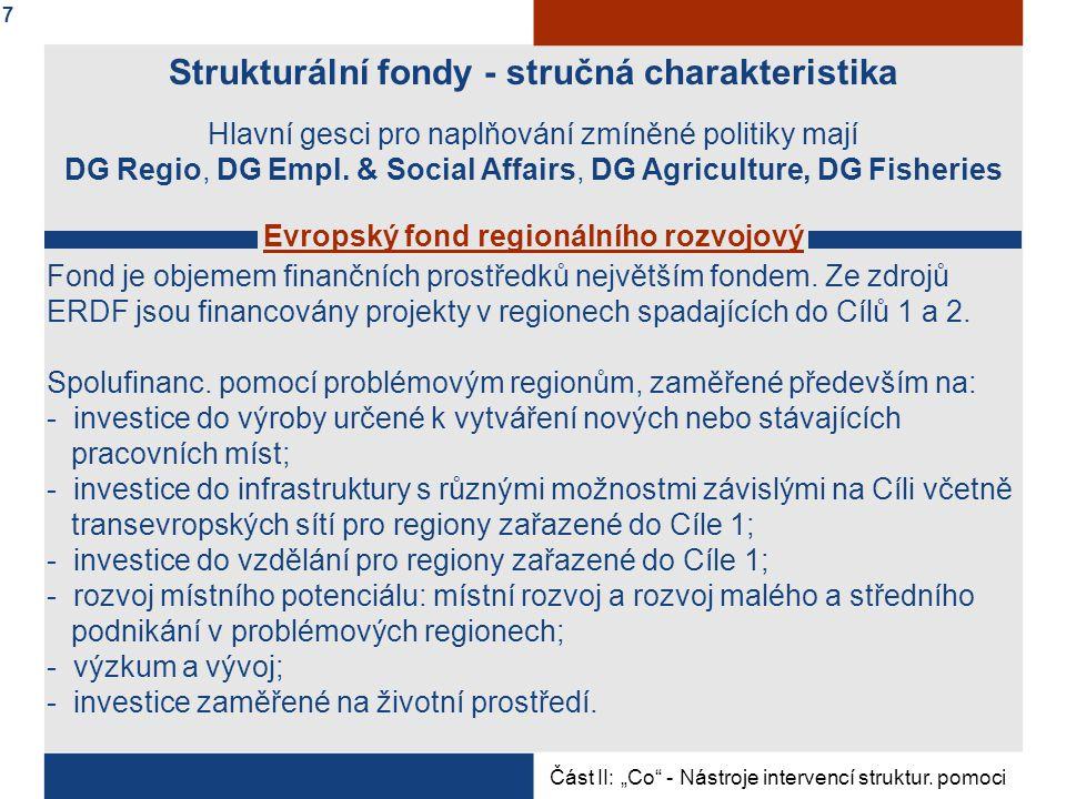 Strukturální fondy - stručná charakteristika