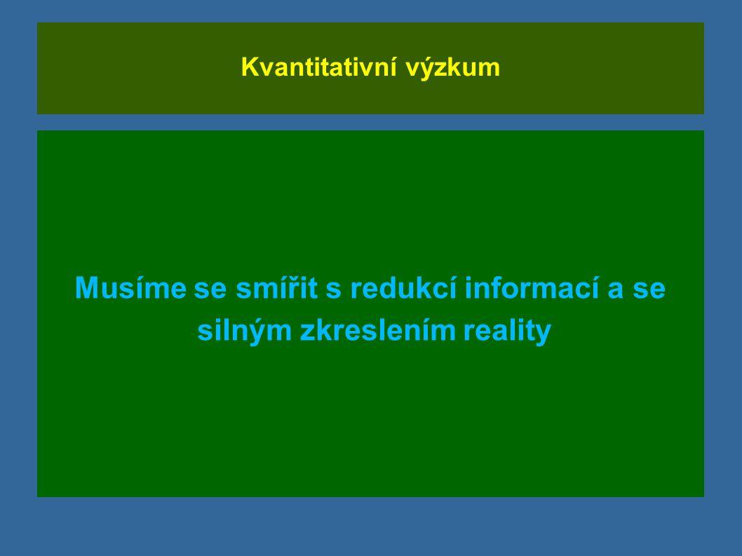 Musíme se smířit s redukcí informací a se silným zkreslením reality