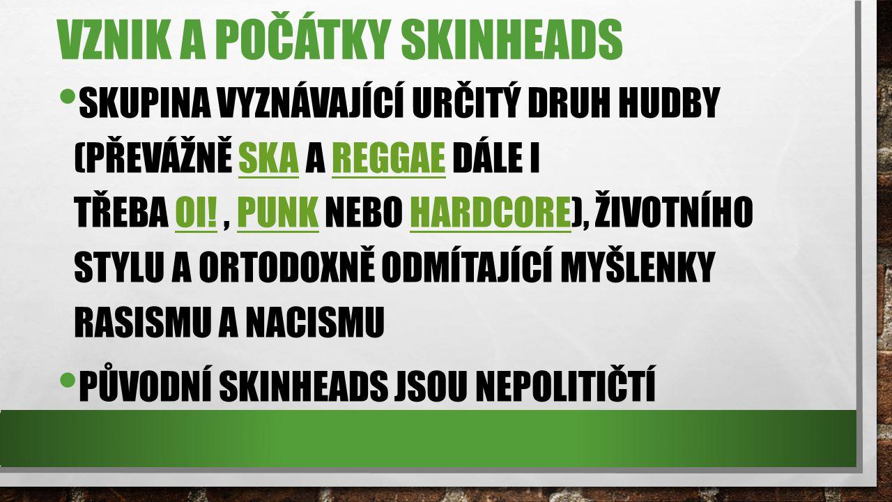 Vznik a počátky skinheads